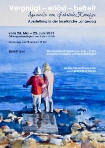Plakat für die Ausstellung auf Langeoog