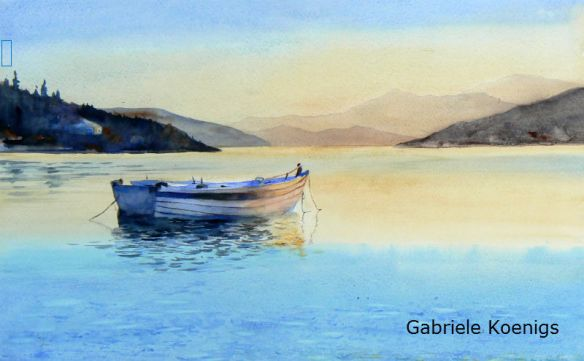 morning has broken. Aquarell von Gabriele Koenigs (2015)